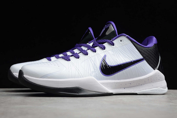 nike zoom kobe 5 inline white black vrsty purple