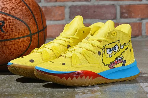 nike kyrie 7 spongebob opti yellow shoes